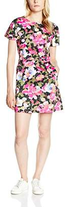 French Connection Women's Adeline Dream Cttn Rdnk Floral Short Sleeve Dress
