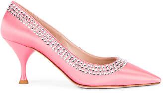 Miu Miu Crystal Rainbow Heels in Rosa | FWRD