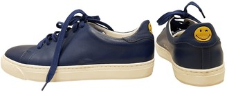 Anya Hindmarch Navy Leather Trainers