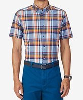 Nautica Men's Classic Fit Marine Plaid Short Sleeve Shirt