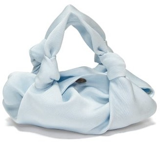 The Row The Ascot Silk Clutch - Womens - Light Blue