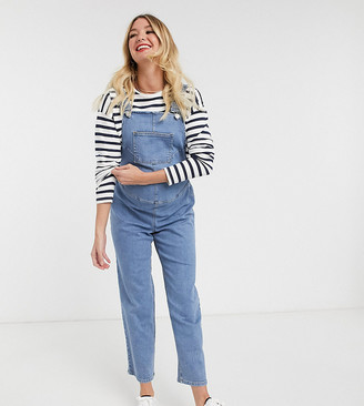 ASOS DESIGN Maternity exclusive denim overall with adjustable waist
