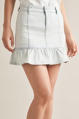 Seed Heritage Frill Hem Denim Skirt
