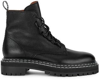 Proenza Schouler Black leather biker boots