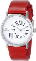 Marvin Women's M025.12.25.66 Origin Stainless Steel Watch with Red Leather Band