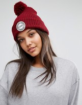 Herschel Knitted Bobble Beanie in Wine