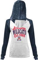 New Era Women's Arizona Wildcats College Burnout Raglan Pullover Hoodie