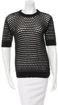 Derek Lam Open Knit Crew Neck Sweater