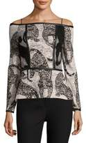 Yigal Azrouel Off-The-Shoulder Cheetah Top