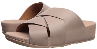 FitFlop Mocca Novaweave Slides (Mink) Women's Shoes