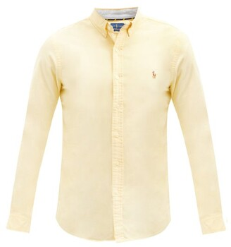 Polo Ralph Lauren Slim-fit Cotton Oxford Shirt - Mens - Yellow