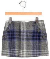 Jacadi Girls' Plaid Wool-Blend Skirt