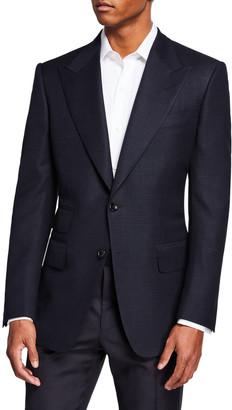 Tom Ford Men's Windsor Peak-Lapel Plaid Jacket