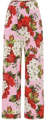 Dolce & Gabbana Floral silk-satin pajama pants