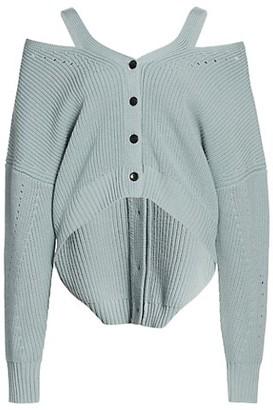 Proenza Schouler White Label Knit Wool Cardigan