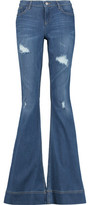 Alice + Olivia Ryley High-Rise Distressed Denim Jeans