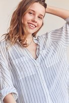 Silence & Noise Silence + Noise Charlie Striped Button-Down Shirt