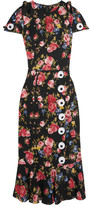 Dolce & Gabbana Floral-print Silk-blend Charmeuse Dress - Black