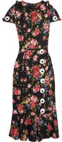 Dolce & Gabbana Floral-print Silk-blend Charmeuse Dress - Black