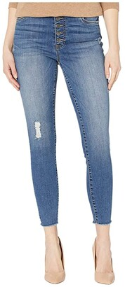 KUT from the Kloth Connie High-Rise Ankle Skinny with Exposed Button in Reinstate (Reinstate) Women's Jeans