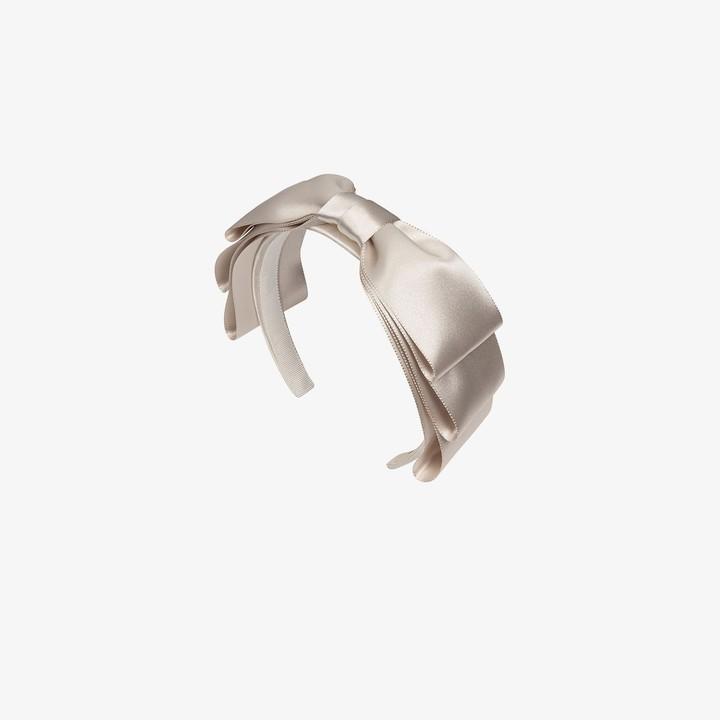 Jennifer Behr ivory Katya silk headband