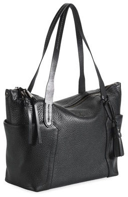 Cole Haan Parker Zip-Top Shopper Tote Bag, Black