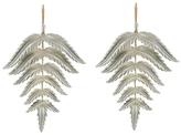 Annette Ferdinandsen Large Sterling Silver Fern Earrings
