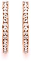 House of Fraser Buckley London Rose Gold Crystal Hoop Earrings
