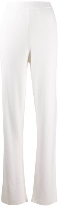 Malo High-Waist Knitted Trousers