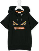 Fendi Monster hooded sweatshirt - kids - Cotton/Spandex/Elastane - 2 yrs