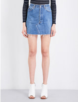 High Waisted Denim Skirt - ShopStyle