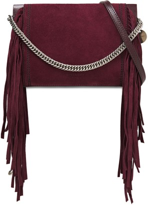 Givenchy Cross3 Fringed Suede And Pebbled-leather Shoulder Bag