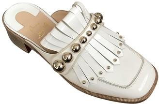 Christian Louboutin White Patent leather Flats