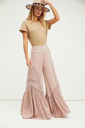 Free People Lovin's Easy Lace Mix Pants
