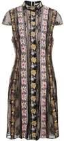 Alice + Olivia Embroidered Gwyneth Dress