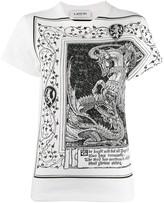 Lanvin dragon and knight print T-shirt