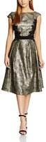 Thumbnail for your product : Little Mistress Women's Metallic and Lace Detail Dress