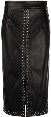 Twin-Set Stud-Embellished Pencil Skirt