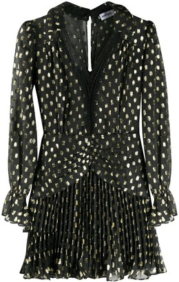 Self-Portrait Fil-Coupe Polka Dot Mini Dress