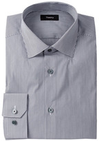 Theory Dover Stripe Long Sleeve Woven Shirt