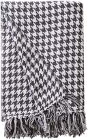 Melange Home Houndstooth Dyed Cotton Throw - Grey