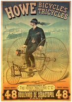 """Howe Bicycles"" Vintage Poster 1000-pc. Jigsaw Puzzle by D-Toys"