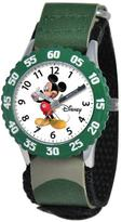 Disney Mickey Mouse Kid's Time Teacher Watch with Rotating Bezel- Camo Strap