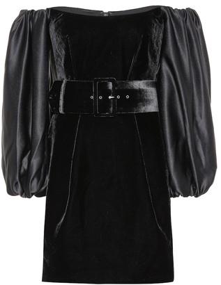 Rasario Off-the-shoulder velvet minidress