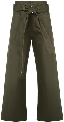 Delada High-Waisted Belted Trousers