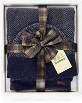 BARBOUR Men's Herringbone Knitted Hat AndScarf Gift Set