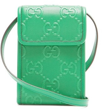 Gucci GG-logo Quilted Leather Cross-body Bag - Green