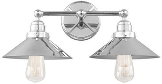 Feiss 2-Light Vanity, Chrome