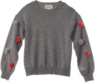 Autumn Cashmere Kids Pompom Wool & Cashmere-Blend Sweater