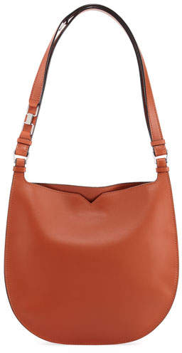 Valextra Weekend Leather Hobo Bag